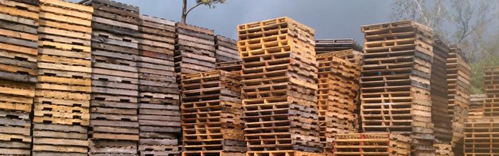 Stacks of Used Pallets at L & M Yard